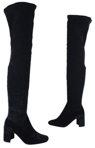 Jeffrey Campbell Velvet Otk Over The Knee Black Boots