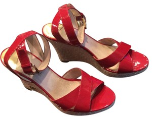 Michael Kors Red patent Wedges