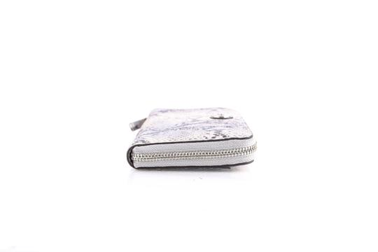 Coach * Coach Ivory Taylor Exotic Embossed Leather Zip Around Wallet Image 2