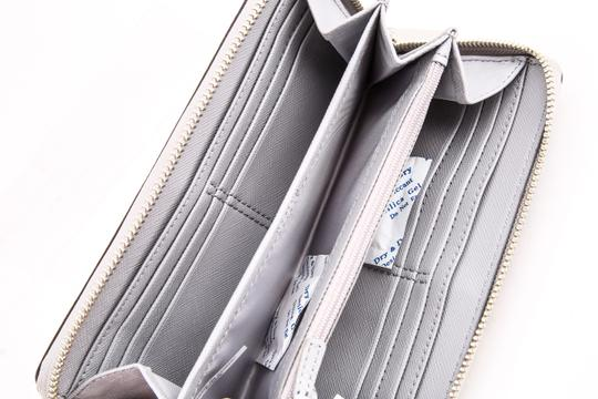 Coach * Coach Ivory Taylor Exotic Embossed Leather Zip Around Wallet Image 6