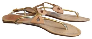 Kate Spade gold with bone bows Sandals