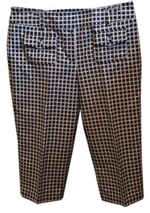 Ann Taylor Capris Black and White Dots