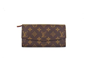 Louis Vuitton Vintage Sarah Monogram Canvas Leather Clutch Wallet France w/ Box