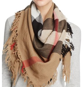 Burberry classic color check wool scarf