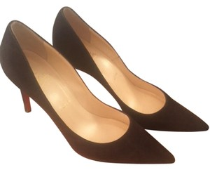 Christian Louboutin Suede Brown Chocolate Luxury Chocolate Brown Pumps