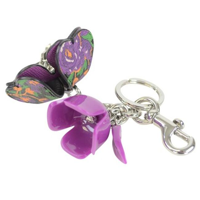 Item - Purple Rose Resin and Leather Purse Keychain Msrp Charm