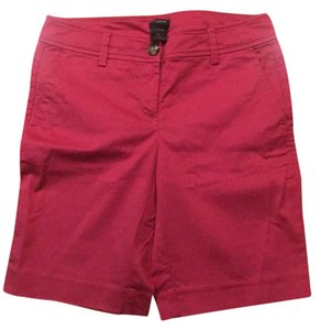 Ann Taylor Bermuda Shorts red