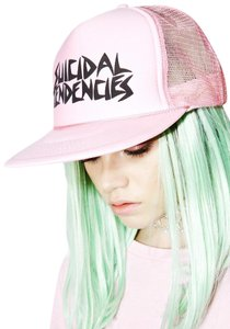Suicidal Tendencies SUICIDAL TENDENCIES FLIP UP TRUCKER HAT PINK