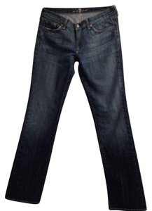 7 For All Mankind Size 31 Made In Usa 98% Cotton 2% Polyurethane Straight Leg Jeans-Dark Rinse