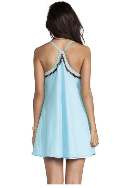 Other short dress Light Blue Beaded Flowy Mini Racer-back on Tradesy Image 1