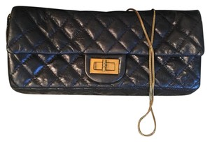 Chanel metallic blue and gold Clutch