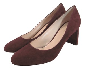 deimille Burgundy Wine 9 Suede Leather Heels Italy 39 New Anthropologie red Pumps