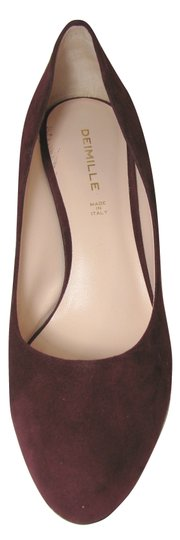 deimille Burgundy Wine 9 Suede Leather Heels Italy 39 New Anthropologie red Pumps Image 3