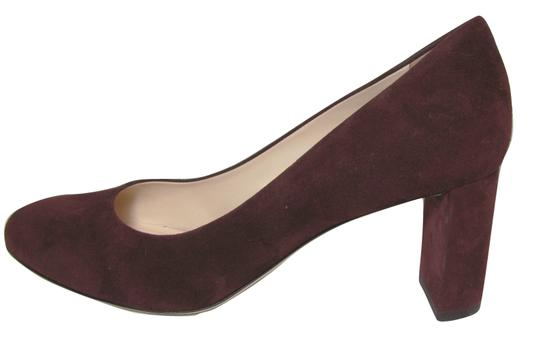 deimille Burgundy Wine 9 Suede Leather Heels Italy 39 New Anthropologie red Pumps Image 5