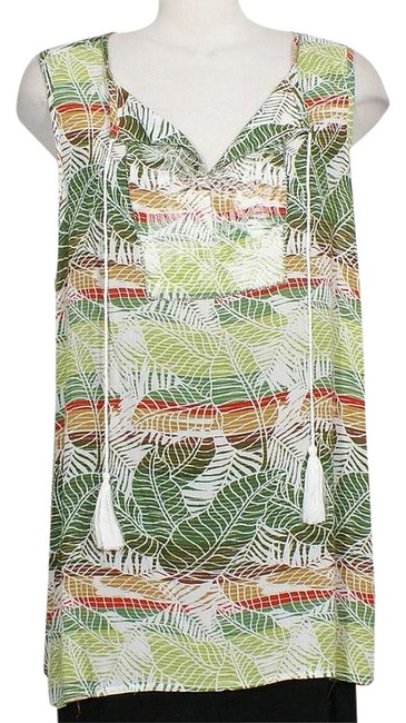Preload https://img-static.tradesy.com/item/21262895/nanette-lepore-green-tropical-embroidered-beaded-gauze-peasant-2x-blouse-size-22-plus-2x-0-1-650-650.jpg