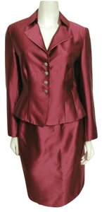 Talbots Talbots Burgundy Red Silk Blend Skirt Suit Sz 4