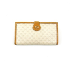 Gucci Vintage Guccissima Canvas Leather Clutch Long Wallet Italy