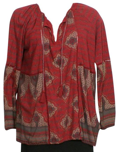 Preload https://img-static.tradesy.com/item/21262955/lucky-brand-red-placed-mixed-print-cotton-blend-knit-peasant-2x-blouse-size-22-plus-2x-0-1-650-650.jpg