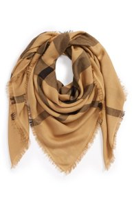 Burberry BURBERRY Overdyed Chambray Check Square Scarf