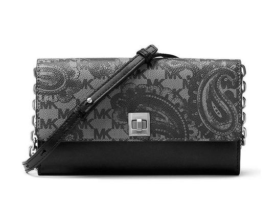 Preload https://img-static.tradesy.com/item/21262998/michael-kors-reduced-mother-gift-navy-paisley-studio-natalie-xl-wallet-on-a-chain-black-leather-shou-0-1-540-540.jpg
