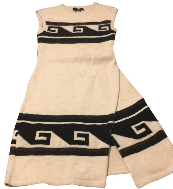 Item - Black and White Runway Piece 2013 Mid-length Work/Office Dress Size 4 (S)