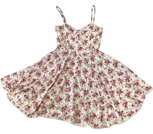 MINKPINK short dress Pink/ White Floral Swing Sweetheart on Tradesy