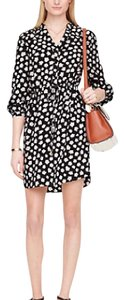 Kate Spade short dress black floral on Tradesy