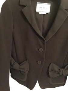 Prada Cropped Jacket Bows Black Blazer