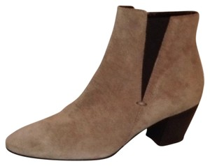 Aquatalia Suede Zipper Western Stretchy taupe Boots