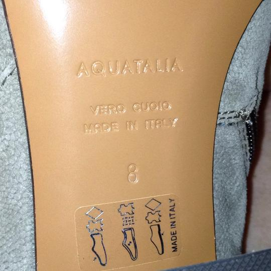Aquatalia Suede Zipper Western Stretchy taupe Boots Image 1
