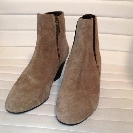 Aquatalia Suede Zipper Western Stretchy taupe Boots Image 2