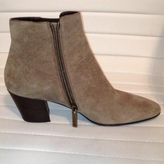 Aquatalia Suede Zipper Western Stretchy taupe Boots Image 3