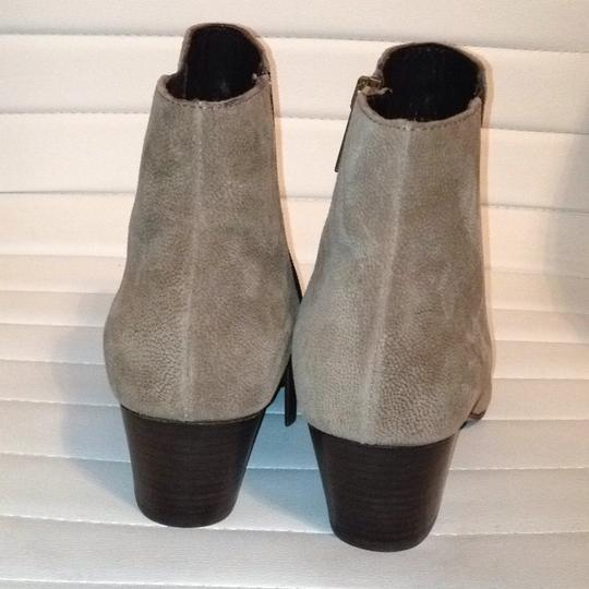 Aquatalia Suede Zipper Western Stretchy taupe Boots Image 4