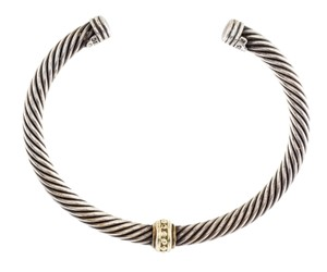 David Yurman Sterling silver David Yurman Single Station Cable Classics Bracelet