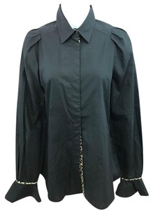 Just Cavalli Black Blouse Button Down Shirt