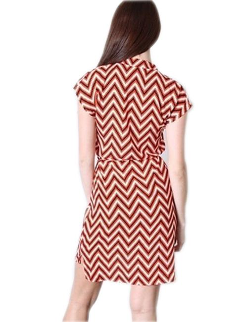 Other short dress MultiColor Chevron Zigzag Shirt Silk on Tradesy Image 1