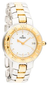 Fendi Stainless steel two-tone 26mm Fendi 900L logo watch