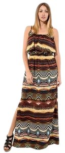 MultiColor Maxi Dress by Jun & Min Maxi Long Tribal Bohemian