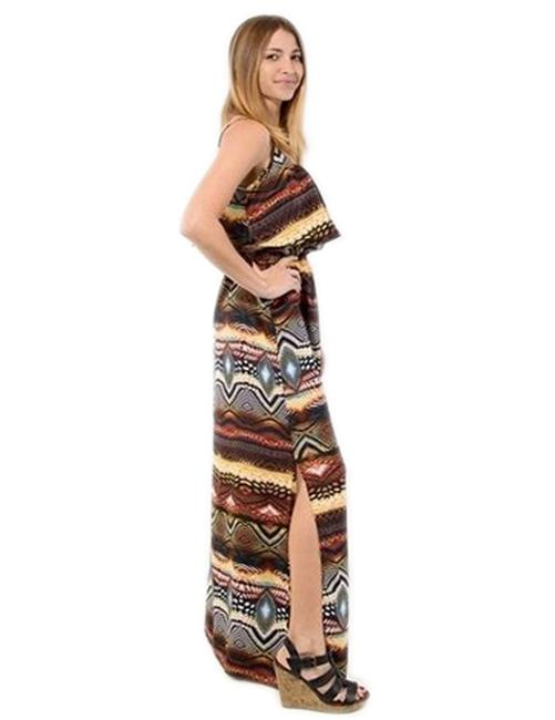 MultiColor Maxi Dress by Jun & Min Maxi Long Tribal Bohemian Image 1