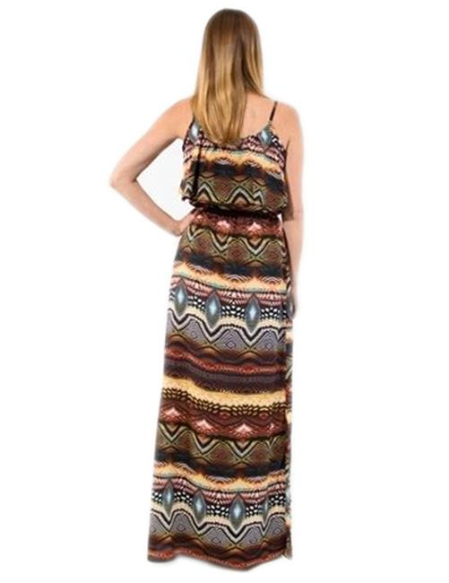 MultiColor Maxi Dress by Jun & Min Maxi Long Tribal Bohemian Image 2