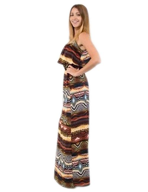 MultiColor Maxi Dress by Jun & Min Maxi Long Tribal Bohemian Image 3