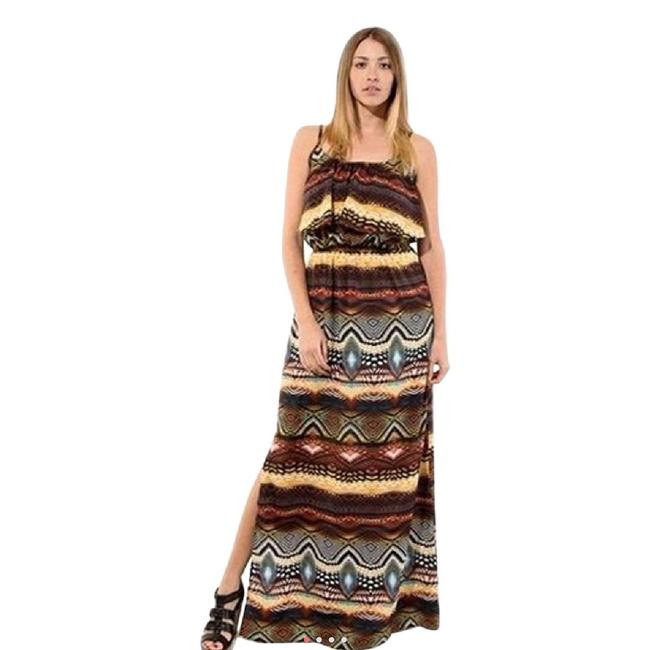 MultiColor Maxi Dress by Jun & Min Maxi Long Tribal Bohemian Image 4