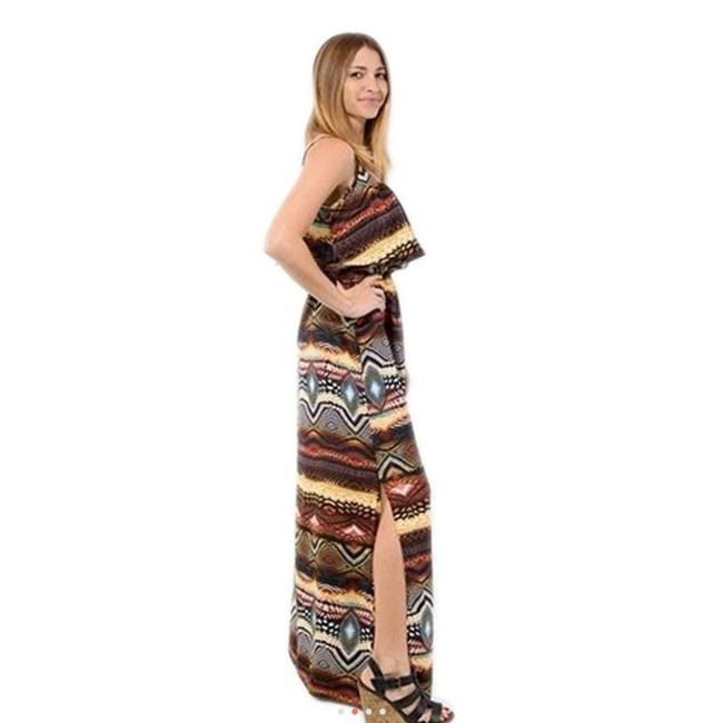 MultiColor Maxi Dress by Jun & Min Maxi Long Tribal Bohemian Image 5