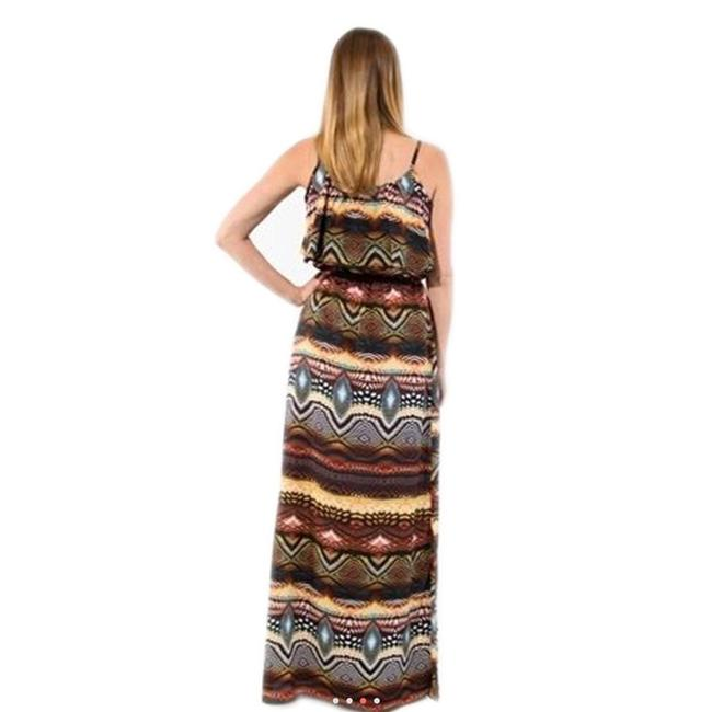 MultiColor Maxi Dress by Jun & Min Maxi Long Tribal Bohemian Image 6