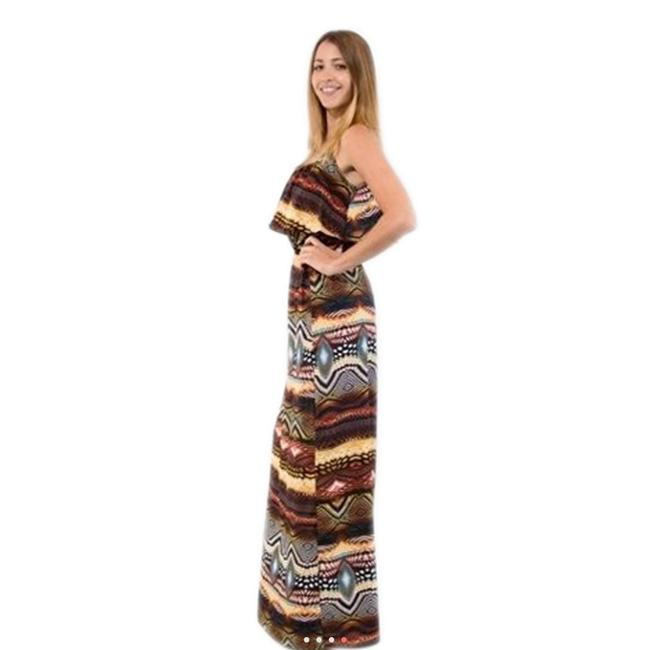 MultiColor Maxi Dress by Jun & Min Maxi Long Tribal Bohemian Image 7