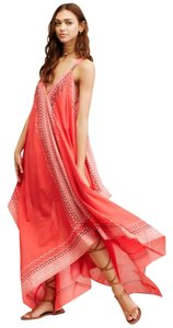 Red / Multi / Cream Maxi Dress by Free People