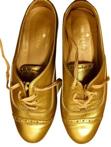 Kate Spade Leather Gold Flats