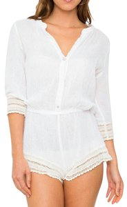 Eberjey Lace Trim Cover Up Leisure Beach Dress