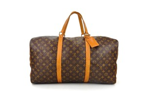 Louis Vuitton Boston Monogram Duffle Vintage Brown Travel Bag