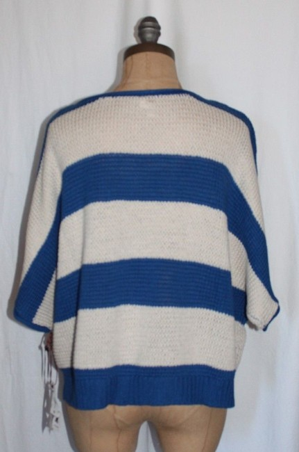 Willow & Clay Striped Oversized Red And Ivory Casual Relax Fit Sweater Image 1